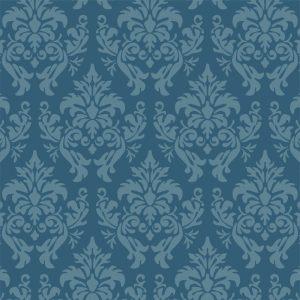 Papel de Parede Adesivo Arabesco Azul
