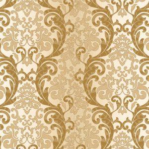 Papel de Parede Adesivo Arabesco Dourado