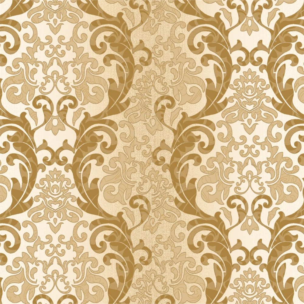 Papel de parede adesivo arabesco dourado stickdecor for Papel de pared dorado