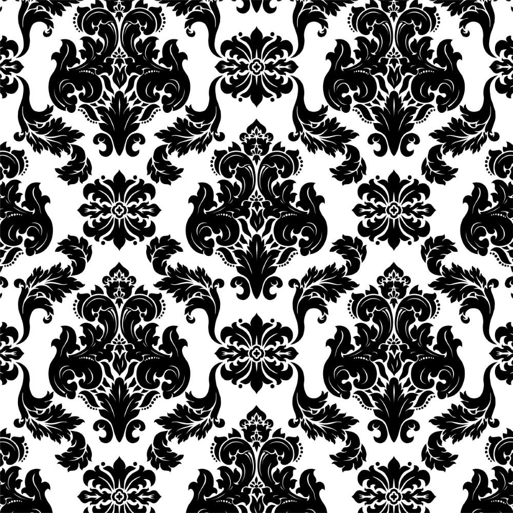 Papel de Parede Adesivo Arabesco Preto e Branco - StickDecor b39cb288d8