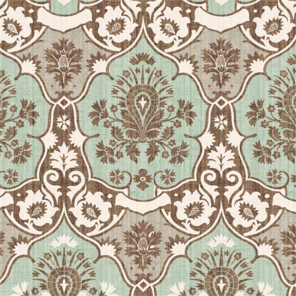 Papel de Parede Adesivo Arabesco Vintage Verde