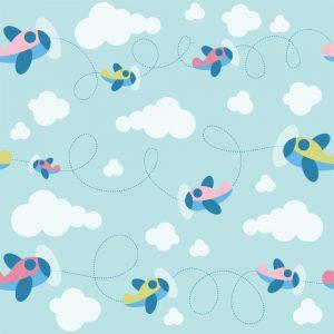 Papel de Parede Adesivo Baby Aviãozinho