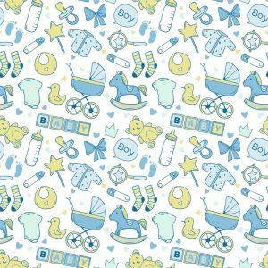 Papel de Parede Adesivo Baby Boy Azul
