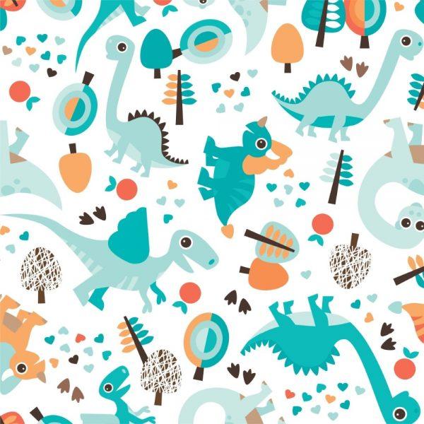 Papel de Parede Adesivo Baby Mundo dos Dinossauros