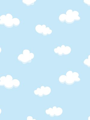 Papel de Parede Adesivo Baby Nuvem