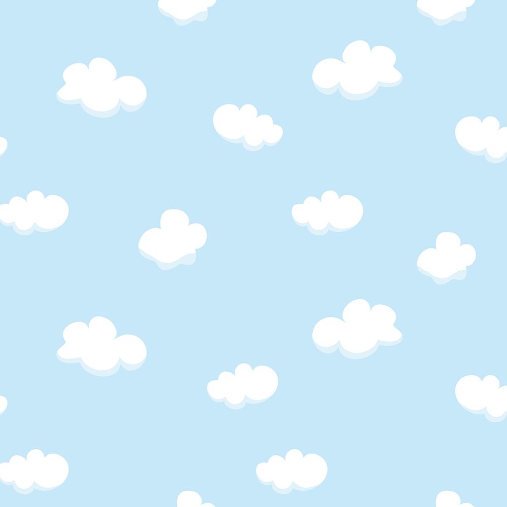 Papel de Parede Adesivo Baby Nuvem  StickDecor