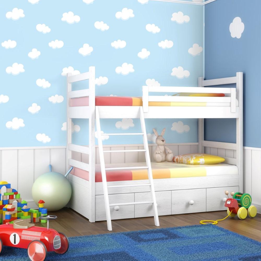 Papel de parede adesivo baby nuvem stickdecor for Papel para paredes salon