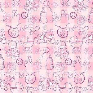 Papel de Parede Adesivo Baby Rosa