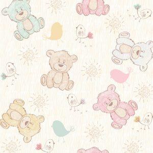 Papel de Parede Adesivo Baby Ursinhos