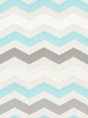 Papel de Parede Adesivo Chevron Cinza Branco e Azul