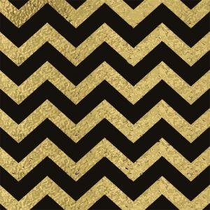 Papel de Parede Adesivo Chevron Dourado e Preto