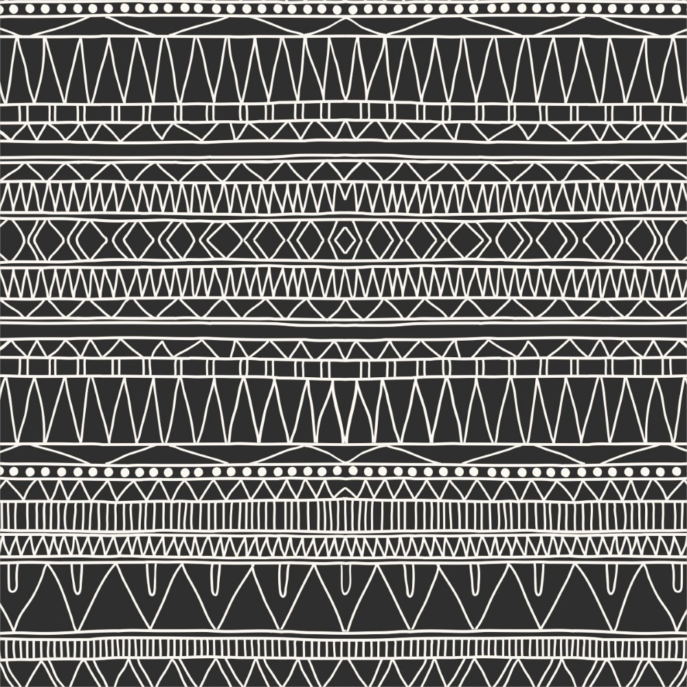 Adesivo De Francesinha Onde Comprar ~ Papel de Parede AdesivoÉtnico Preto e Branco StickDecor