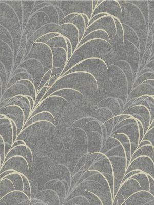 Papel de Parede Adesivo Floral Cinza
