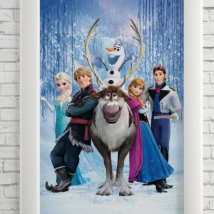 Adesivo de Porta Desenho Frozen