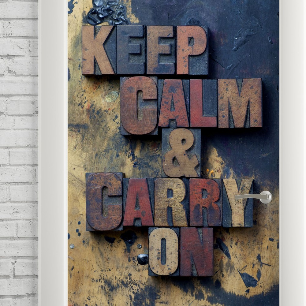 Adesivo de Porta Keep Calm