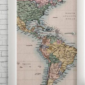 Adesivo de Porta Mapa Vintage