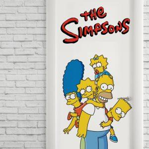 Adesivo de Porta Os Simpsons