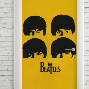 Adesivo de Porta The Beatles