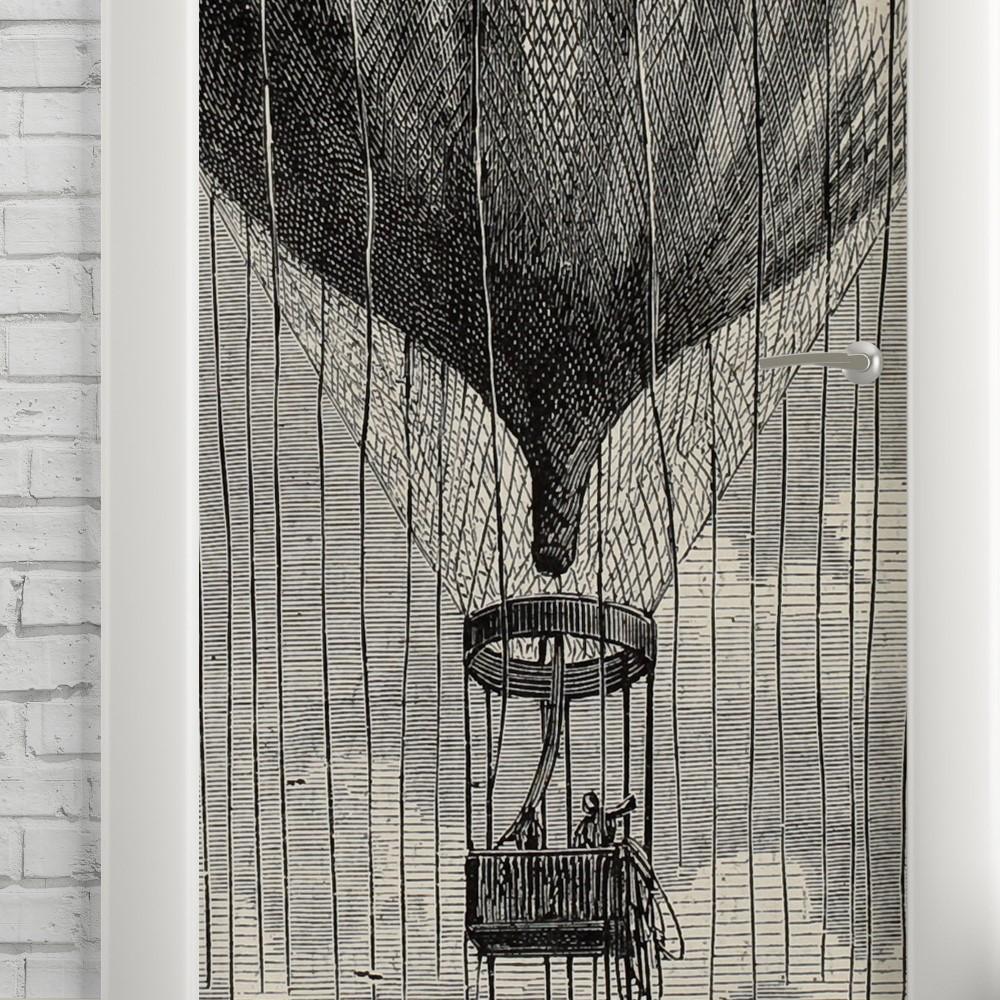 Adesivo de Porta Vintage Balão