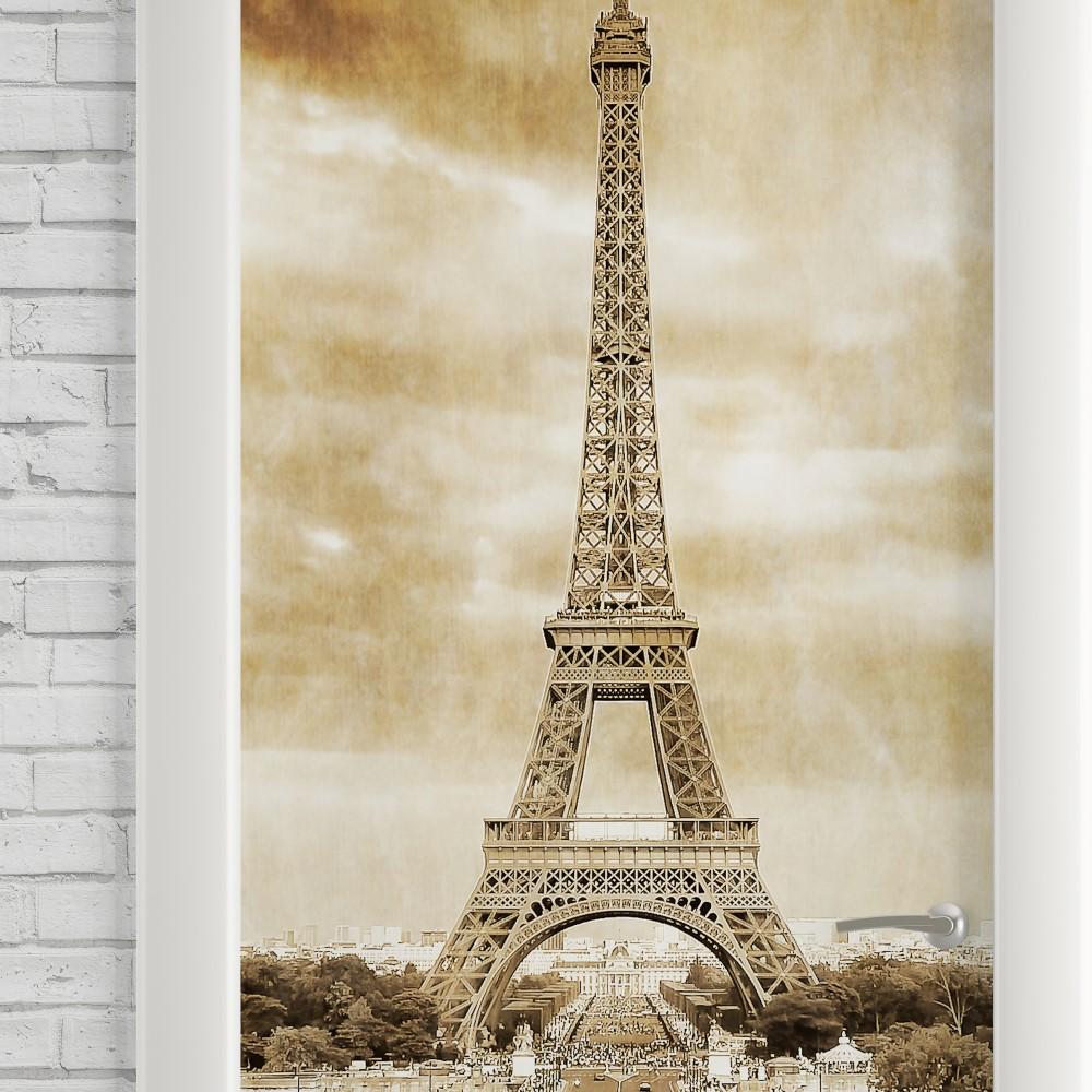 Curso Artesanato Goiania ~ Adesivo de Porta Vintage Paris Torre Eiffel StickDecor
