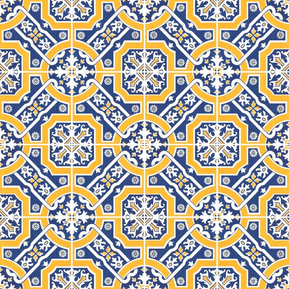 Kit de adesivo azulejo amarelo e azul stickdecor - Azulejo 15x15 ...