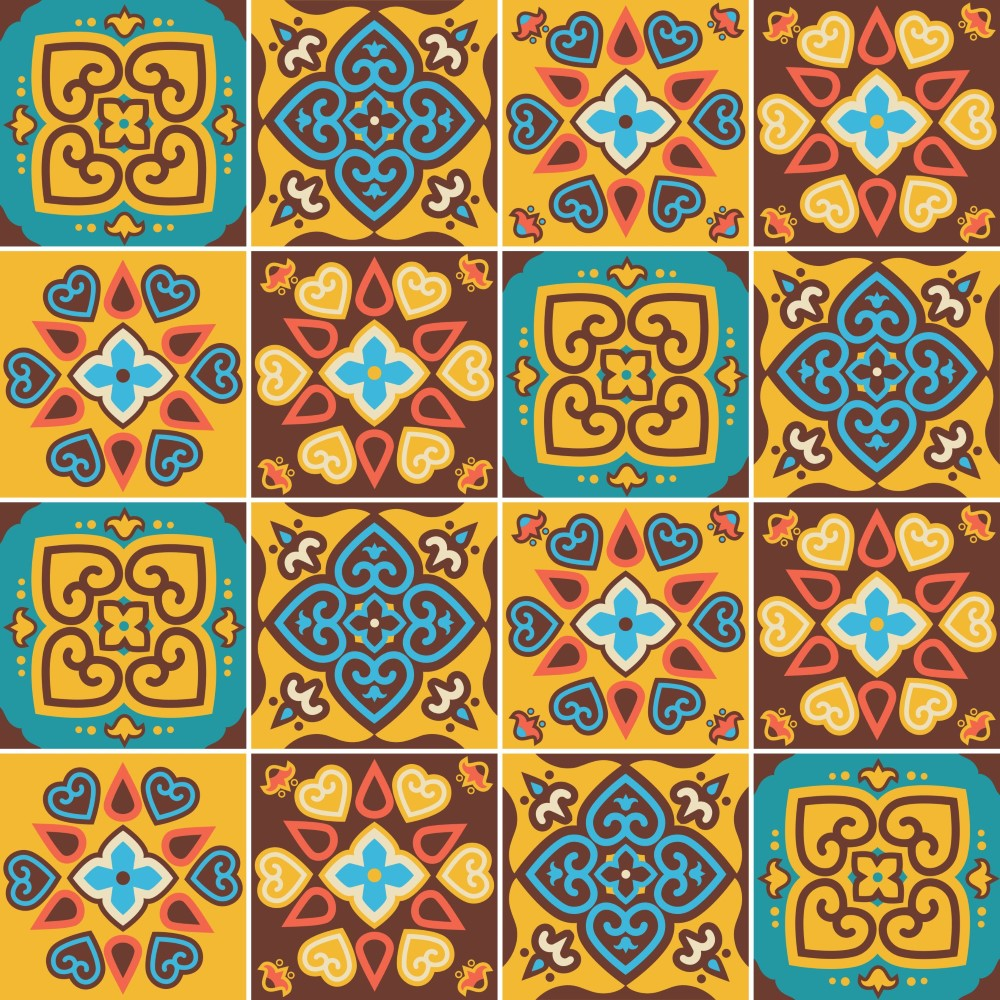 Kit de adesivo azulejo amarelo e marrom stickdecor for Azulejo sobre azulejo