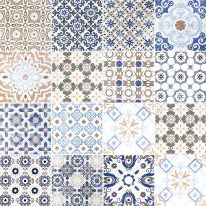 KIT de Adesivo Azulejo Antique