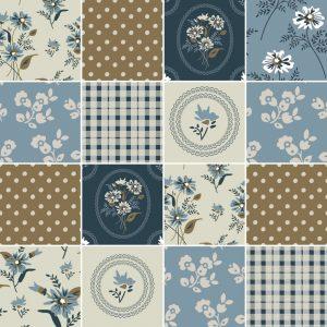 KIT de Adesivo Azulejo Flores Retro
