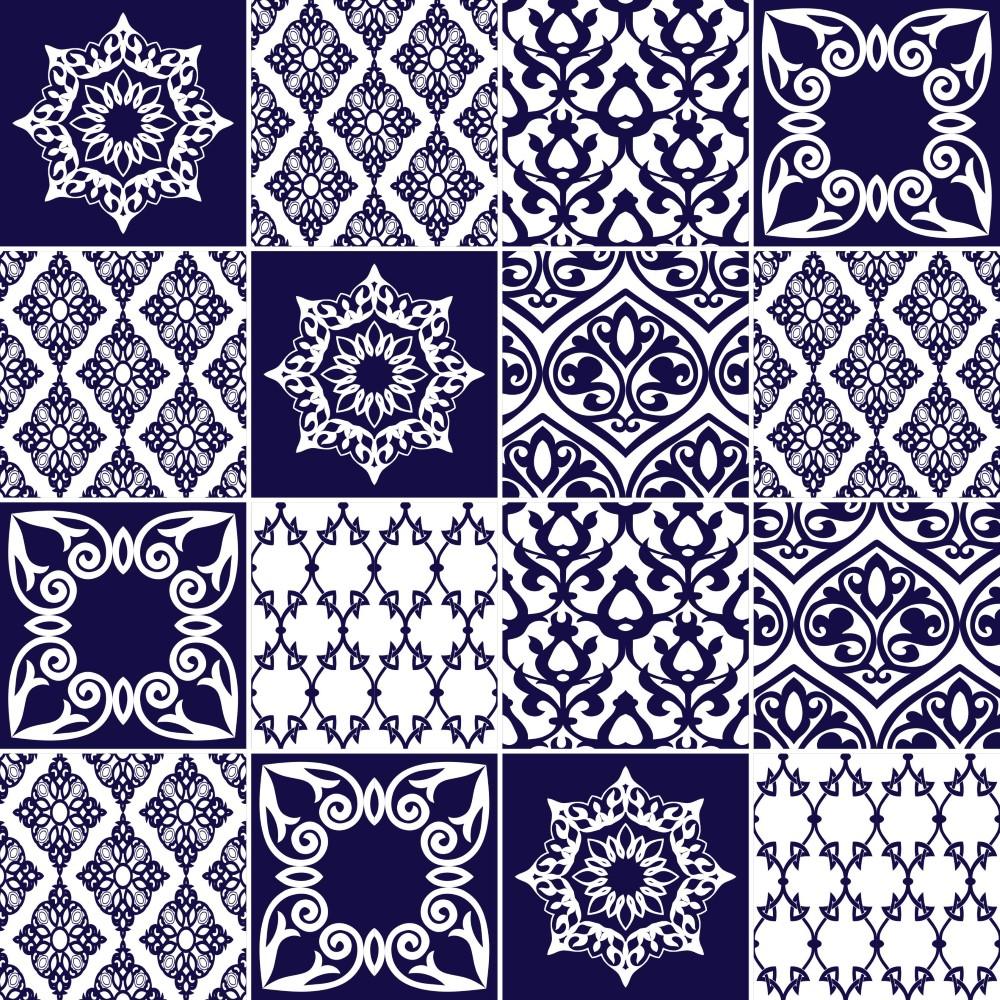 Kit de adesivo azulejo portugues 064 stickdecor - Azulejo 15x15 ...