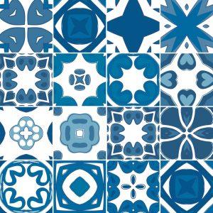 KIT de Adesivo Azulejo Portugues
