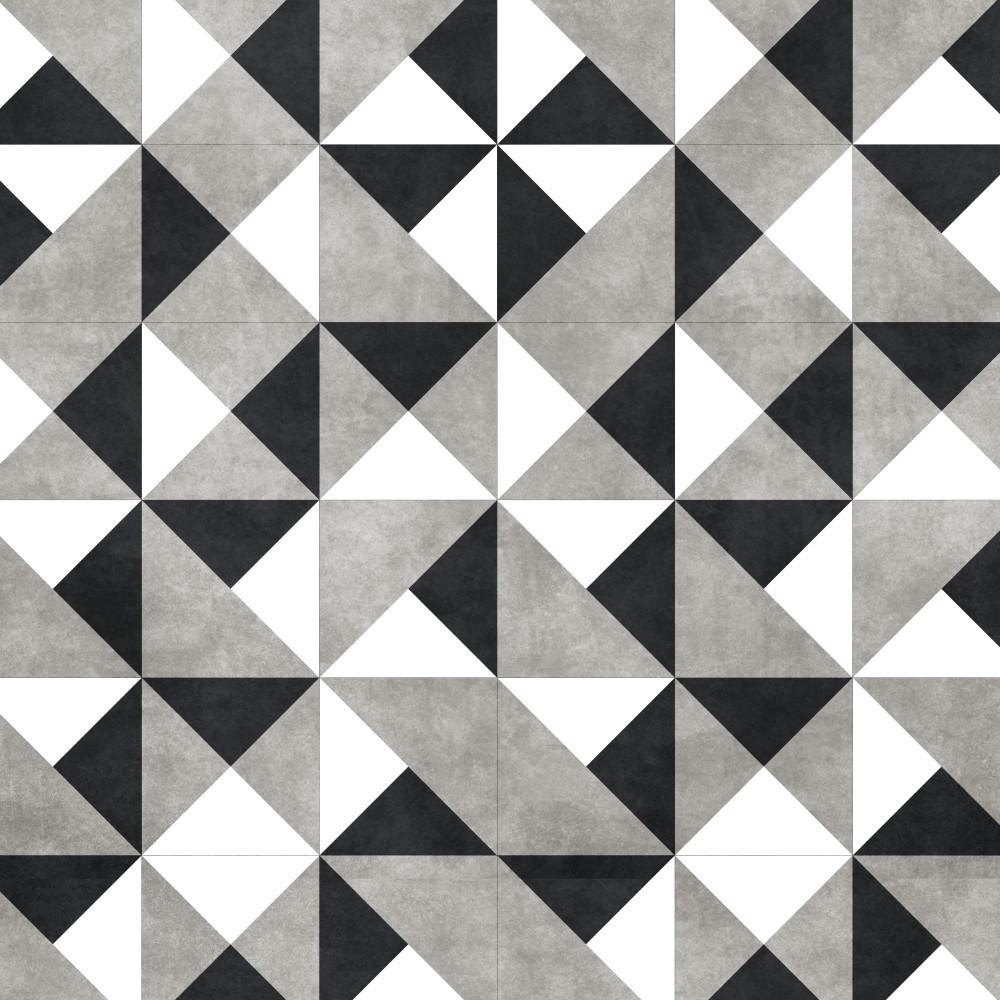 Kit de adesivo azulejo preto branco e cinza stickdecor - Papel para azulejos de bano ...