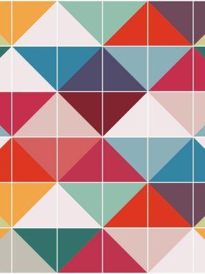 KIT de Adesivo Azulejo Retro Colorido