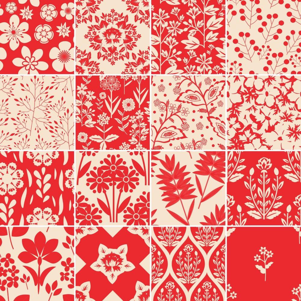 Adesivo De Parede Filtro Dos Sonhos ~ KIT de Adesivo Azulejo Vermelho StickDecor