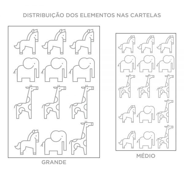 Kit de Adesivos de Parede Animais Contorno