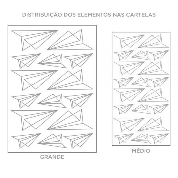 Kit de Adesivos de Parede Aviaozinhos de Papel