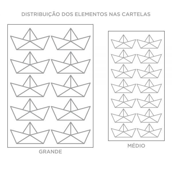 Kit de Adesivos de Parede Barquinhos de Papel