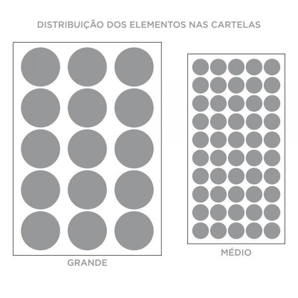 Kit de Adesivos de Parede Bolinhas