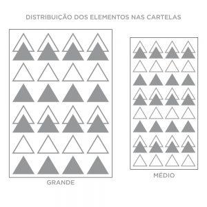 Kit de Adesivos de Parede Composição de Triângulos
