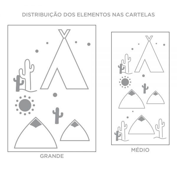 Kit de Adesivos de Parede Deserto Contorno