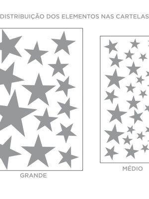 Kit de Adesivos de Parede Estrelas