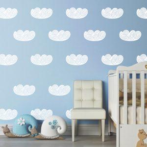 Kit de Adesivos de Parede Nuvens CaracolKit de Adesivos de Parede Nuvens Caracol