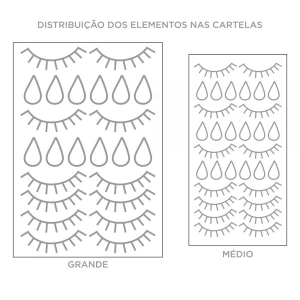 Kit de Adesivos de Parede Olhos com Gotas