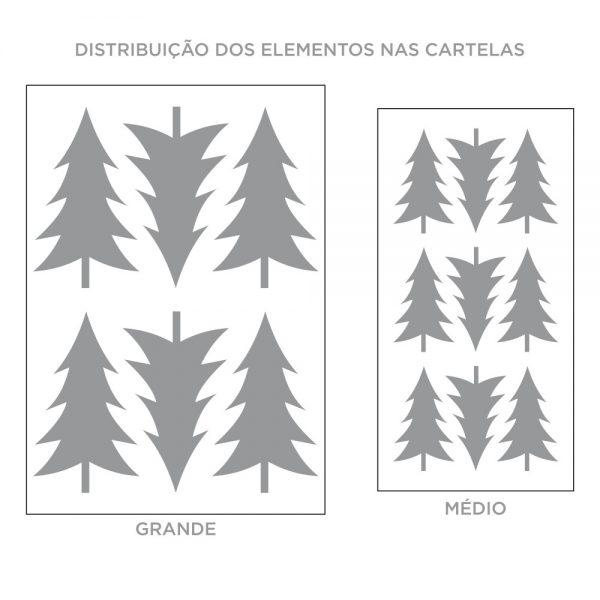 Kit de Adesivos de Parede Pinheiro