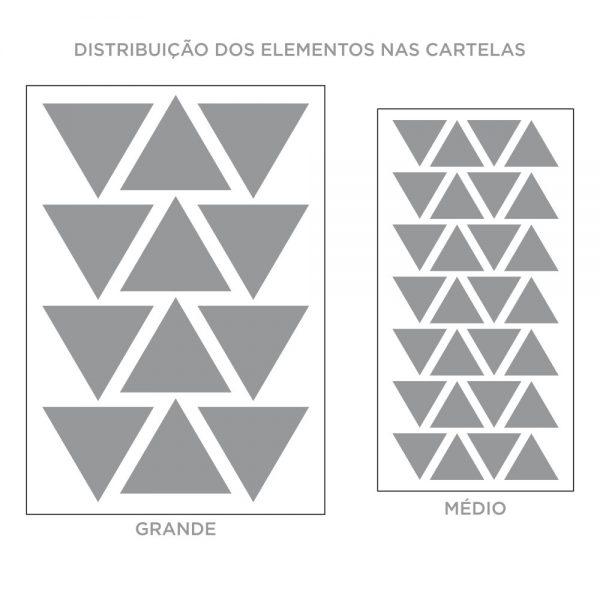 Kit de Adesivos de Parede Triângulos