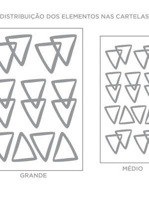 Kit de Adesivos de Parede Triangulos Contorno Vazado