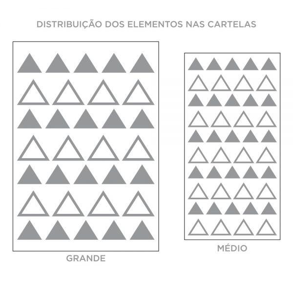 Kit de Adesivos de Parede Triângulos Mistos