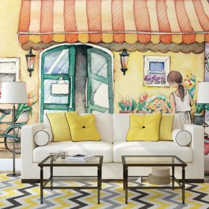 Painel Fotográfico Banca de Flores