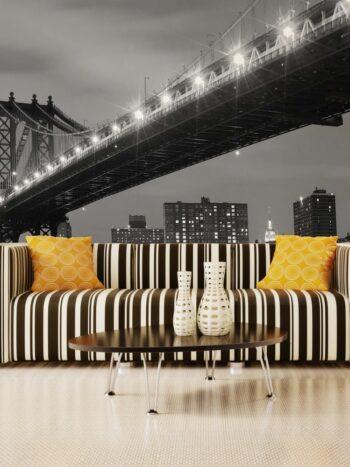 Painel Fotográfico Cidade Noturna Brooklyn
