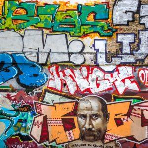 Painel Fotográfico Grafite Moustache