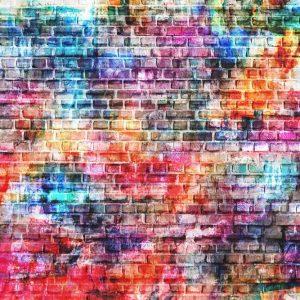 Painel Fotográfico Grafite Tijolinho a vista